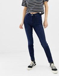 Lee Scarlett High Rise Skinny Jeans Dark Blue Used