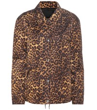 Alexander Wang Leopard Printed Jacket Brown