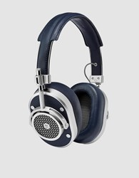 Master And Dynamic Mh40 Over Ear Headphones Silver Navy