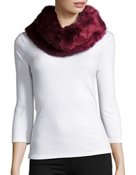 Collection 18 Faux Fur Cowlneck Muffler Blackberry