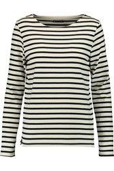 Petit Bateau Mariniere Striped Cotton Sweater White