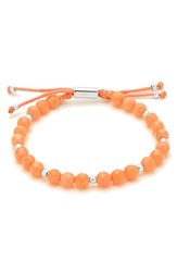 Gorjana Women's Power Semiprecious Stone Beaded Bracelet Pink Coral Silver
