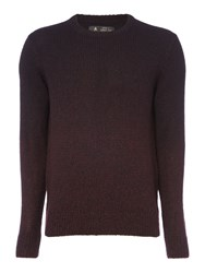 Label Lab Men's Fader Ombre Crew Neck Knit Black