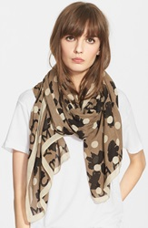 Marc By Marc Jacobs 'Dotty Flora' Scarf Granite Multi