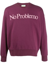 Aries 'No Problemo' Sweatshirt Red