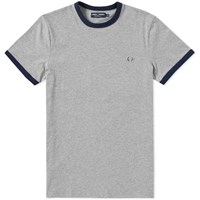Fred Perry Ringer Tee Grey