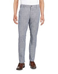 Hugo Boss Textured Cotton Slacks Grey
