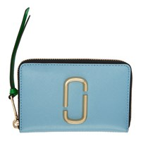 Marc Jacobs Blue Small Snapshot Standard Continental Wallet