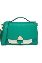 Mallet And Co Basil Two Tone Textured Leather Shoulder Bag Jade