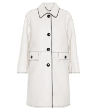 Marc Jacobs Faux Leather Coat White