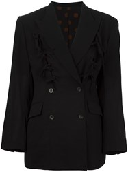 Jean Paul Gaultier Vintage Bow Trim Blazer Black
