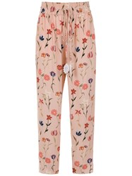 Martha Medeiros Sara Printed Trousers Pink And Purple