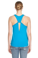 1.State Women's Back Keyhole Stretch Knit Tank Turquoise