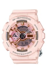 G Shock 'Ana Digi' Resin Watch 49Mm Pink