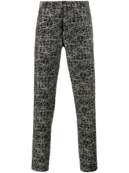 Christian Dior Homme Scribble Print Trousers Black