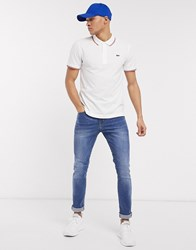 Lacoste Sport Tipped Polo In White