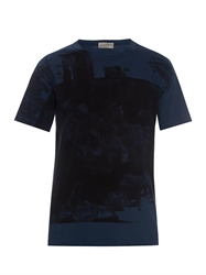 Yohji Yamamoto Abstract Print Cotton T Shirt