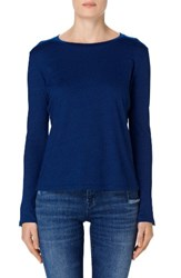 J Brand Women's Crete Button Sleeve Cotton Tee