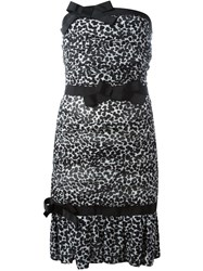 Boutique Moschino Strapless Animal Print Dress Black