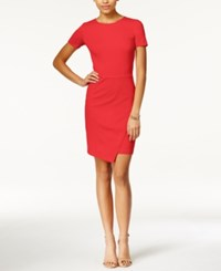 Bar Iii Envelope Hem Sheath Dress Hibiscus Bloom