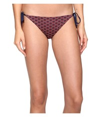 Vilebrequin Flore Bottom Anchor Of China Voile Women's Swimwear Brown