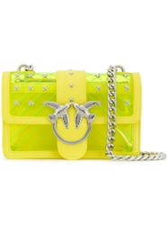 Pinko Love Quilted Shoulder Bag Yellow