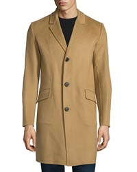 Theory Whyte Reish Button Down Cashmere Coat Camel Women's
