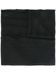 Y 3 Ribbed Scarf Black