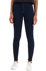 Topshop Moto 'Joni' Super Skinny Jeans Navy Blue Regular And Short