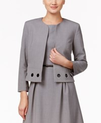 Nine West Taylor Grommet Trim Jacket Smoke
