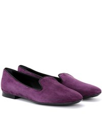 Tod's Suede Loafers Purple