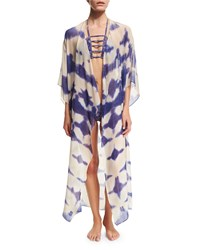 Tie Dye Kimono With Split Back Multi Ale By Alessandra
