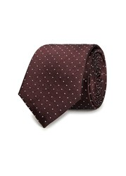 Peckham Rye Burgundy Pin Dot Silk Tie