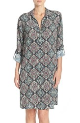Women's Kut From The Kloth Print Long Sleeve Shirtdress