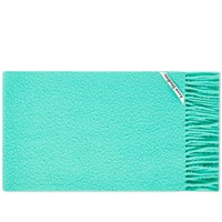 Acne Studios Holmes Brushed Scarf Green