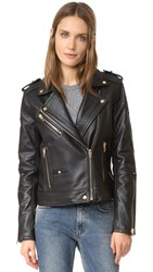 Blank Leather Moto Jacket The One