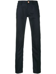 Pt05 Regular Fit Trousers Spandex Elastane Virgin Wool Blue