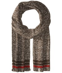 Smartwool Thunder Creek Scarf Chocolate Heather Scarves Brown