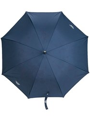 Moschino Boutique Print Umbrella Blue