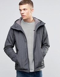 Bench Zip Through Lightweight Jacket With Hood In Black Black