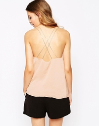 Goldie New Rules Cami Top With Chain Straps Nude