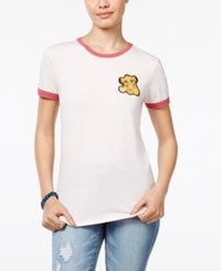 Disney Juniors' The Lion King Patch Ringer T Shirt Light Pink Mauve