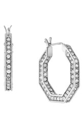 Women's Louise Et Cie Small Pave Hoop Earrings
