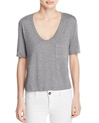 Alexander Wang T By Classic Cropped Tee Heather Gray