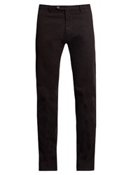 J.W.Brine James Slim Leg Stretch Cotton Jacquard Trousers Burgundy