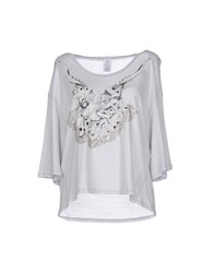 Uniqueness Topwear T Shirts Women Light Grey