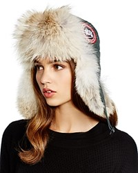 Canada Goose Coyote Fur Aviator Hat