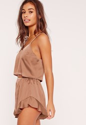 Missguided Cropped Cami Pj Set Gold