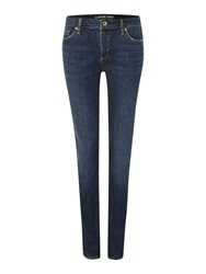 Lands' End Low Rise Denim Slim Jeans Navy