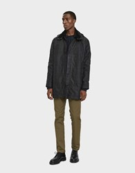 Norse Projects Trondheim Waxed Cotton Parka In Black Watch Check